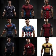 Herren Marvel DC Superheld T-Shirt Fahrrad Sport Kleidung Kurzärmliges Trikot