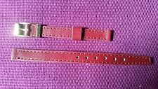 BRACELET MONTRE cuir véritable box  bordeaux***** *8mm *~~  REF HC51
