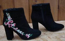 PRIMARK Atmosphere Black Faux Suede Ankle Boots Size UK 5