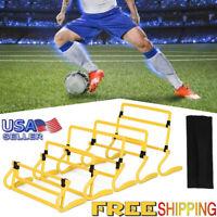 5 pcs Football Speed Agility Training Aid Jump Hurdles Fitness Adjustable Height
