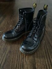 Doc Marten Black Patent Leather 8 Eyelet Combat Boots- 41/ 9
