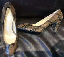 Marks and Spencer Autograph Snake Leather Court Shoes Size 7.5 Wider Fit