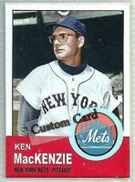 KEN MacKENZIE NEW YORK METS 1963 STYLE CUSTOM MADE BASEBALL CARD BLANK BACK