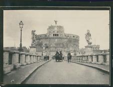 Italie, Rome, Castel Sant'Angelo et un pont, ca.1900, Vintage silver print