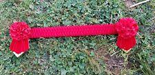 Kaptivation Browbands - Bling Diamonte - Red Velvet - Any Size