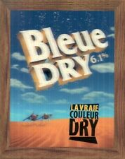 Labatt's Bleue Dry 3D Lenticular Picture Beer Advertising French 9x11 inch