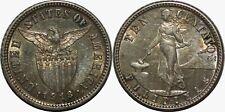 1918-S US/Philippines 10 Centavos ~ AU Details ~ 75% Silver ~ Allen#8.13 ~ MX168