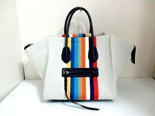 Auth CELINE Ivory Multi Luggage Small Square Phantom 169952XCC.14ML Tote Bag