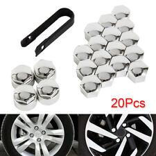 20x 17mm Chrome ALLOY CAR WHEEL NUT BOLT COVERS CAPS For Audi VW BMW bs02