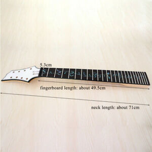 8 string 24 fret mahogany guitar neck rosewood fingerboard