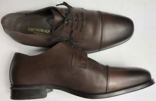 Bruno Magli Men's Cap Toe Dress Oxford Hand Burnished Leather Shoes MN2903 10.5