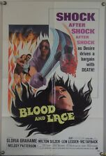 BLOOD AND LACE FF ORIG 1SH MOVIE POSTER GLORIA GRAHAME AIP GORE HORROR (1971)