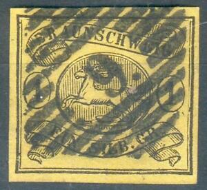 Braunschweig Mi.-Nr.11A mit Nr.-St. 9 -Hofpostamt (MICHEL EURO 70,00) pracht