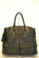NWT DOONEY & BOURKE CLAYTON FLORENTINE LEATHER LG SATCHEL/SHOULDER BAG in BLACK