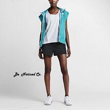 Nike Bonded Women's Shorts L Gray Black Gym Casual Running Training New