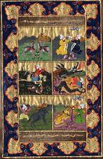 Persian Miniature Painting Vintage Paper Handmade Art Islamic Illuminated Script