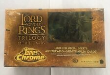 Topps LOTR Lord of the Rings Chrome Trilogy Movie Factory Sealed Box Autographs?