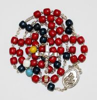 Chaplet for the Holy Souls in Purgatory Rosary made of Wood + Gift Holy Card