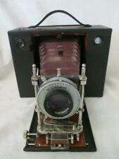 KODAK No 4 Cartridge Model F Wood & Brass Folding Red Bellows Camera c1897-07