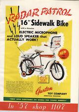 1957 PAPER AD Radio Patrol Sidwalk Bike Bicycle Police Loud Speaker Microphone