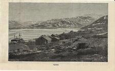 Stampa antica IVITTUT IVIGTUT veduta Grønland Groenlandia 1887 Old Print Denmark