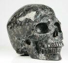 "Huge 5.0"" Russian Astrophylite Carved Crystal Skull, Realistic, Crystal Healing"