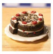 Dolls House Miniature Cake: Chocolate & Cherry Gateau  : 12th Scale
