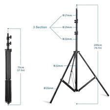 Photo Studio 2m 7ft Light Stand Tripod W803II Fr Flash Lighting Umbrella Softbox