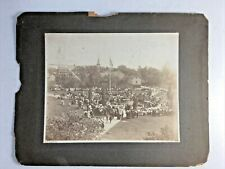COLLEGE POINT NY Band Concert at 5th Ave Park 7/4/1904 Antique CABINET PHOTO