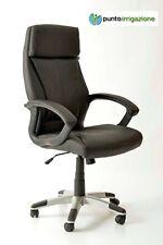 Poltrona sedia ufficio presidenziale elegante di lusso Leya nera