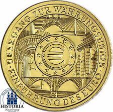 Deutschland 100 Euro Goldmünze Währungsunion 2002 Stempelglanz 1/2 Oz Gold Mzz D