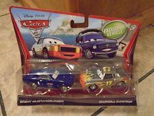 2010 MATTEL--DISNEY'S CARS--MUSTANGBURGER & DARRELL CARTRIP CAR SET (NEW)
