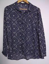 Cotton On Women's Purple & White Shirt - Size M