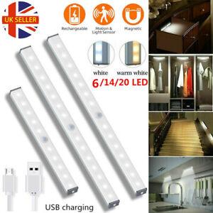 Battery Powered Wireless LED PIR Motion Sensor Closet Lights Light Strip Lamp