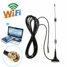 Hot RP-SMA 2.4GHz 7 DBI Wireless Wifi WLAN Router 5 X Range Booster Antenna 50 W