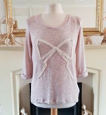 NEW LOOK Light Pink Fine Thin Knit Dip Hem Jumper Size 12 EUR 40