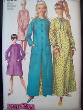 Simplicity Pattern 7363 Simple to Sew Robe & Nightgown Sizes 14-16 circa 1960s