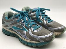Brooks Adrenaline GTS 16 Running Shoes Teal Silver Sneakers Womens Size 9 Medi