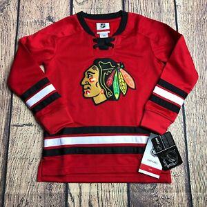 NHL Kids Medium 5/6 NHL Jersey Chicago Blackhawks NEW Replica Blank