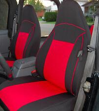 Jeep Wrangler custom neoprene 1997-02 seat cover Front pair Red TJ 127rdFr