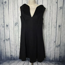 GUESS Womens Large Hourglass Embossed Crocodile Fall Fit and Flare Dress Black