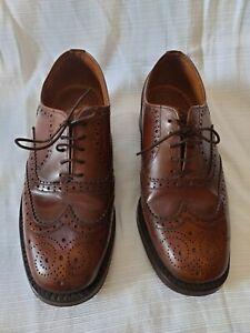 Loake Mens Vintage Shoes 1980's Bedford Size 6 Leather VGC