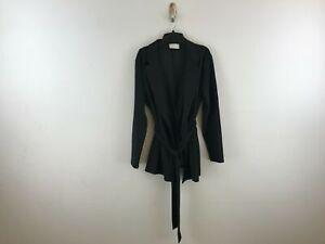 Women's ASOS Design Maternity Wrap Suit Long Sleeve Blazer - Size 12 - Black