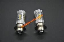 For Honda TRX 450R 450ER White LED Headlight Bulbs 80W 2004 2005 2006 2007 2008