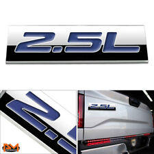 """2.5L"" Polished Metal 3D Decal Blue Emblem For Subaru/Nissan/Renault/Toyota"