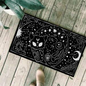 Wicca Black Cat Welcome Doormat Gothic Occult Mat Witches Rug Indoor Home Decor