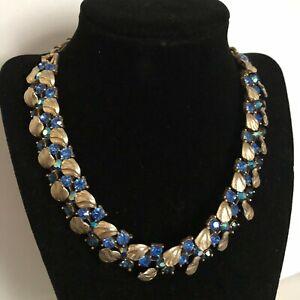 Lovely Lisner - Sapphire Blue & Blue AB Rhinestone Choker/ Necklace