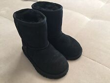 Ugg Toddler Girl Bootie Classic Black Boots Size 9 Sheepskin 3151T