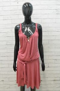 Vestito Donna Liu Jo Taglia 42 Rosa Woman Kleid Dress Corto Clothes Size Abito