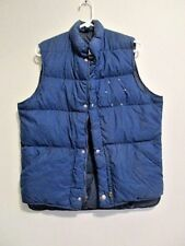 Vintage Woolrich Puffer Vest Goose Down Jacket Navy Blue Men's Size Medium M VTG